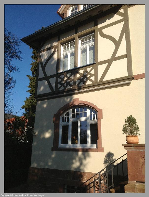 Holzfenster für ein Denkmal in Bensheim