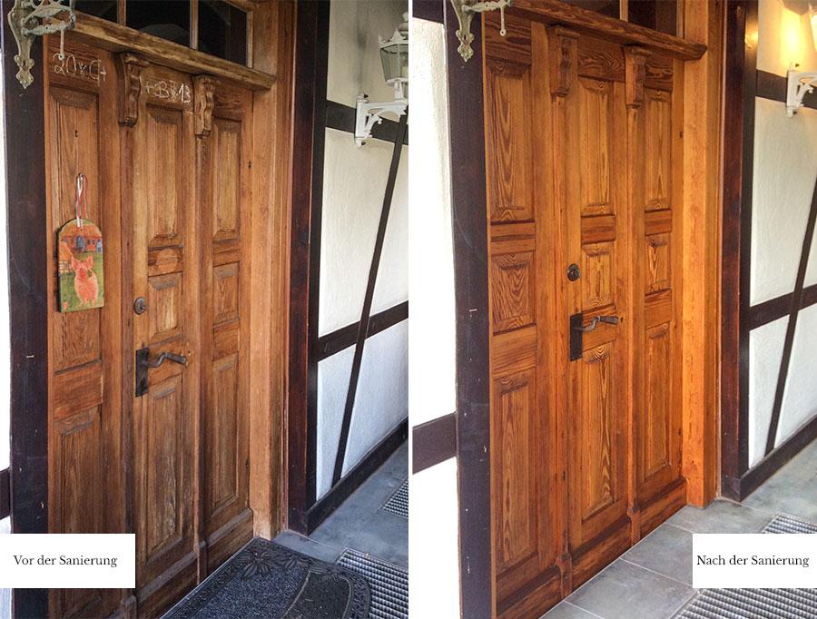 Historische Holzhaustür